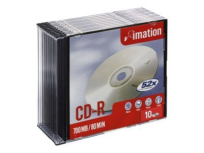 Imation Cd-r  700mb  52x  Slim Jewel Case  10 Pack