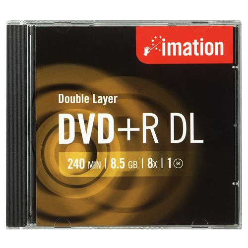 Imation Dvd R Dl  8x  85gb  Jewelcase  5 Pack