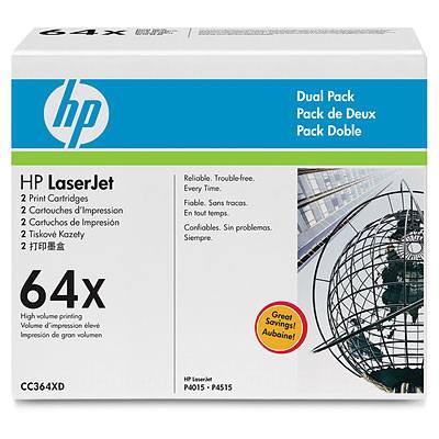 Ver HP CONSUMIBLE Cartuchos de toner negros de paquete doble HP 64X LaserJet