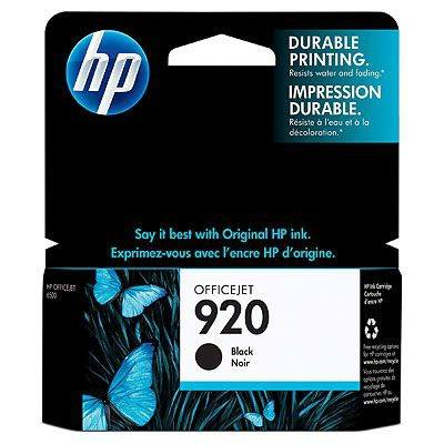 Hp Consumible Cartucho De Tinta Negra Officejet Hp 920