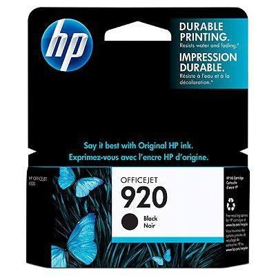 Ver HP CONSUMIBLE Cartucho de tinta negra Officejet HP 920
