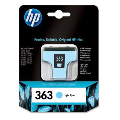 Cartucho de tinta cian claro HP 363