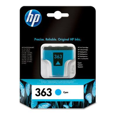 HP CONSUMIBLE Cartucho de tinta cian HP 363