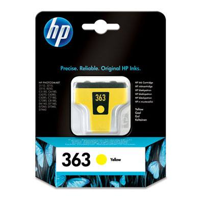 Ver HP CONSUMIBLE Cartucho de tinta amarilla HP 363