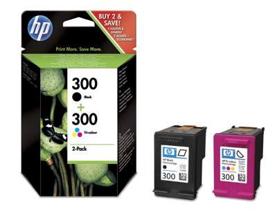 HP CONSUMIBLE Paquete combinado de cartuchos de tinta tricolor y negra HP 300