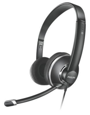 Philips Shm7410u Negros Supra-aurales Auriculares Para Pc