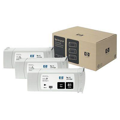 Hp Consumible Paquete De 3 Cartuchos De Tinta Negro De 680 Ml Hp 81