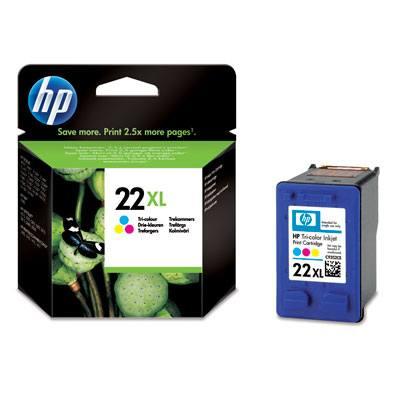 Ver HP CONSUMIBLE Cartucho de impresion para inyeccion de tinta tricolor HP 22XL