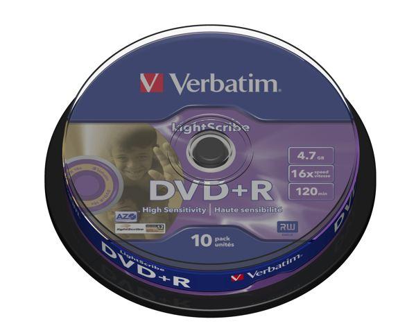 Verbatim Dvd R Lightscribe V12 43576