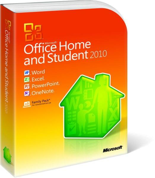 Microsoft Office Home And Student 2010  Dvd  3 Pc  Non-commercial  En