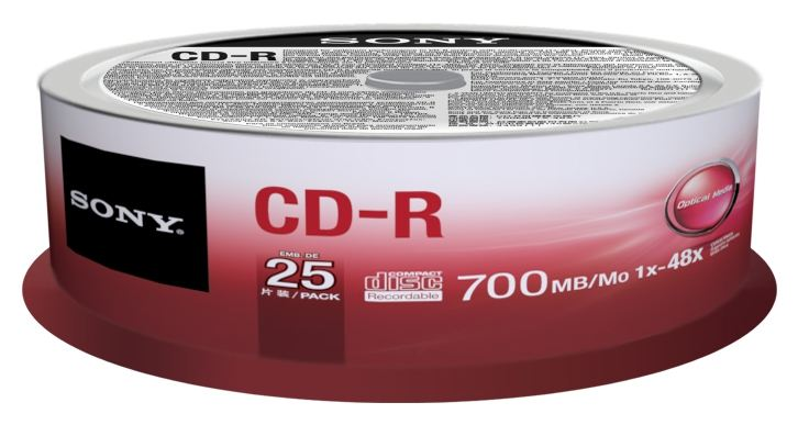 Sony CD-R 700MB 25CDQ80SP