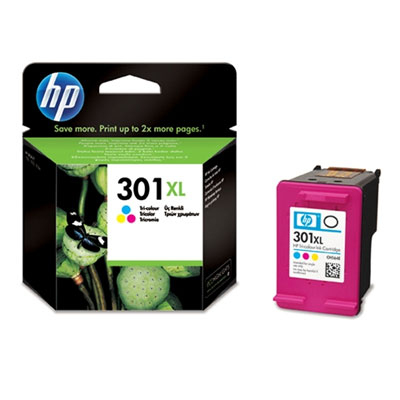 HP CONSUMIBLE Cartucho de tinta tricolor HP 301XL