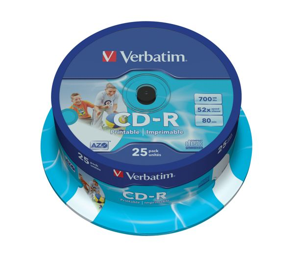 Ver Verbatim CD-R AZO Wide Inkjet Printable