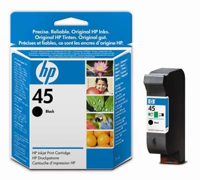 Hp Consumible Cartucho Negro De Inyeccion De Tinta Hp 45 51645ge