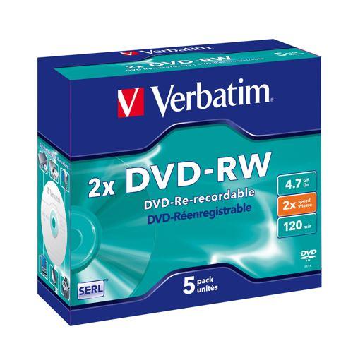 Verbatim Dvd-rw Matt Silver 2x
