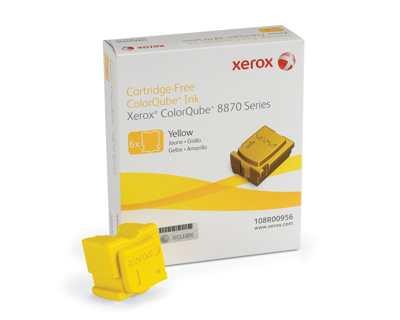 Ver Xerox Tinta para ColorQube 8870  amarillo  6 barras 17300 paginas