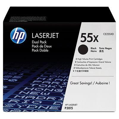 Ver HP CONSUMIBLE Cartuchos de impresion negros de paquete doble CE255X HP LaserJet