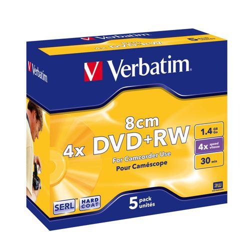 Verbatim Dvd Rw 8cm Matt Silver