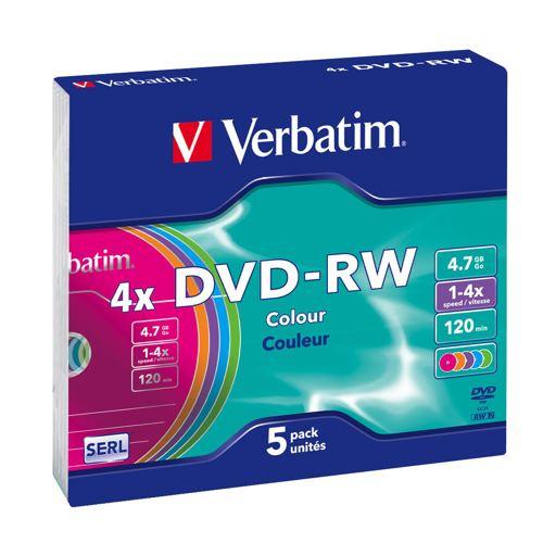Verbatim Dvd-rw Colours 4x