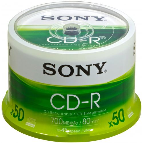 Ver Sony CDR SPINDLE 50PK