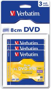 Ver Verbatim DVD RW 8cm Matt Silver 43594