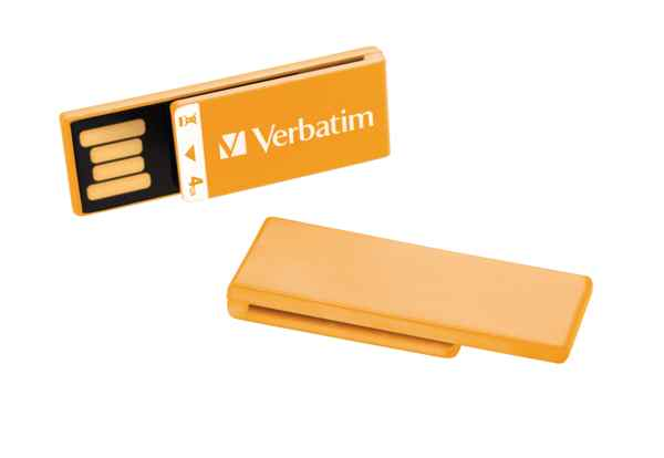 Verbatim Clip-it Usb Drive 4gb Orange Multipack