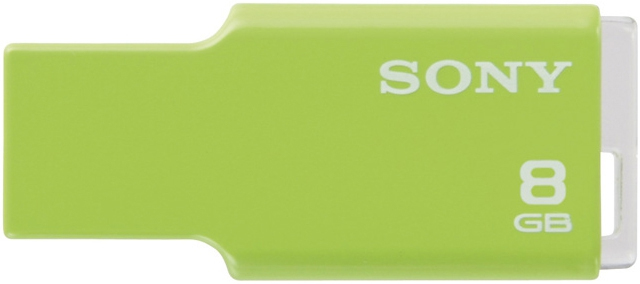 Ver Sony Micro Vault Style Green 8GB