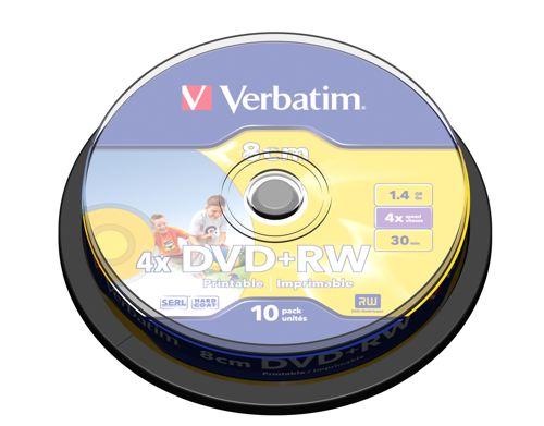 Verbatim Dvd Rw 8cm Inkjet Printable