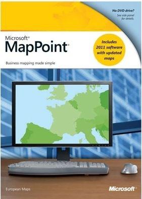 Microsoft Mappoint 2011 Europe  X32  Win  1u  Dvd  Esp
