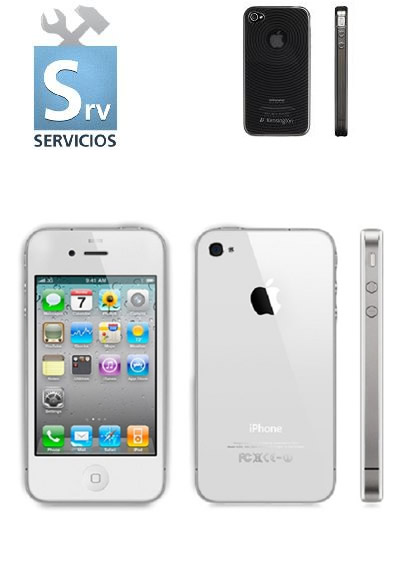 Apple Iphone 4s 8 Gb Blanco Funda