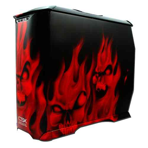 Cooler Master Csx Red Flaming Skulls