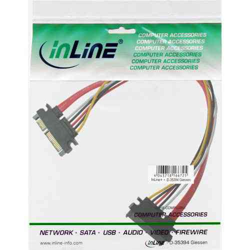 Inline 29652a Alargador Interno Sata Power Datos