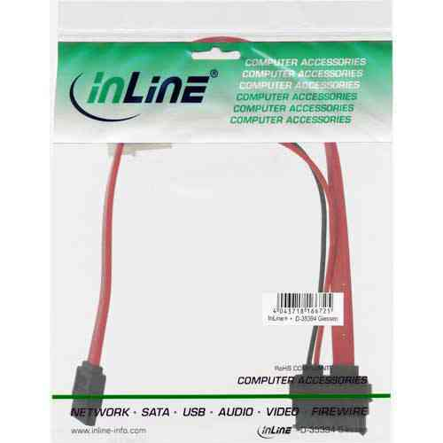 Inline 29675 Adaptador Interno Sata Slim Power Datos A Molex 525 Y Sata Estandar