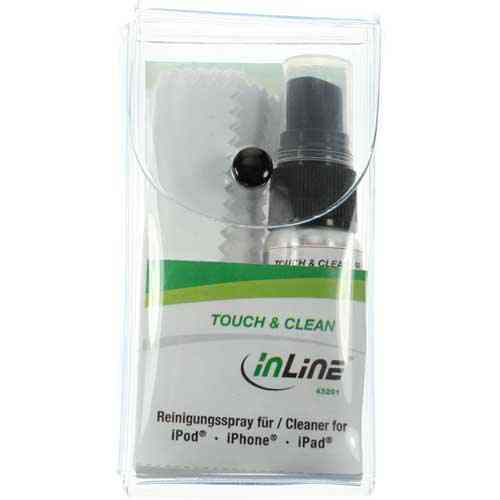 Inline 43201 Kit De Limpieza Para Pantallas De Tablets Y Smart Phones Spray 25ml