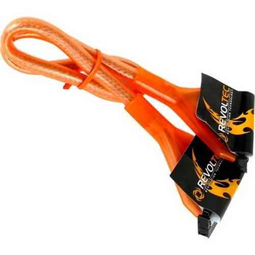 Revoltec Rc030 Cable Floppy Redondo Uv Naranja 48cm