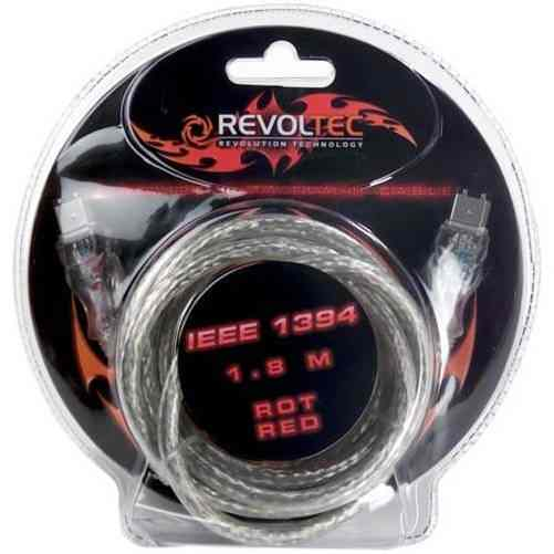 Revoltec Rc035 Firewireieee 1394 Flashing Cable De Datos 1 8m Rojo