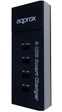 Ver Approx APPUSB4PB cargador de dispositivo movil
