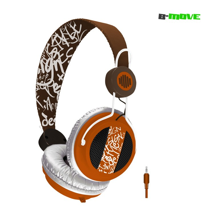 Auricular B-move Sound Wave Marronnaranja   Micro