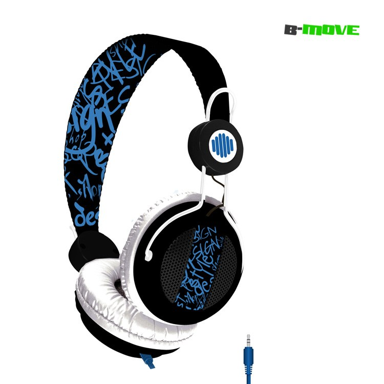 Auricular B-move Sound Wave Negroazul   Micro