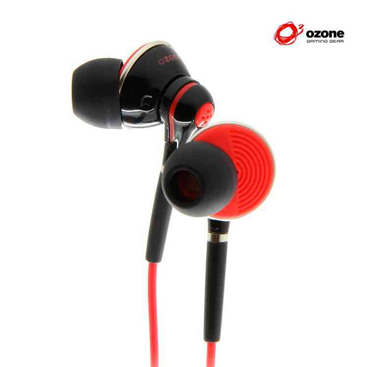 Auricular Gaming Ozone Oxygen In-ear Negrorojo