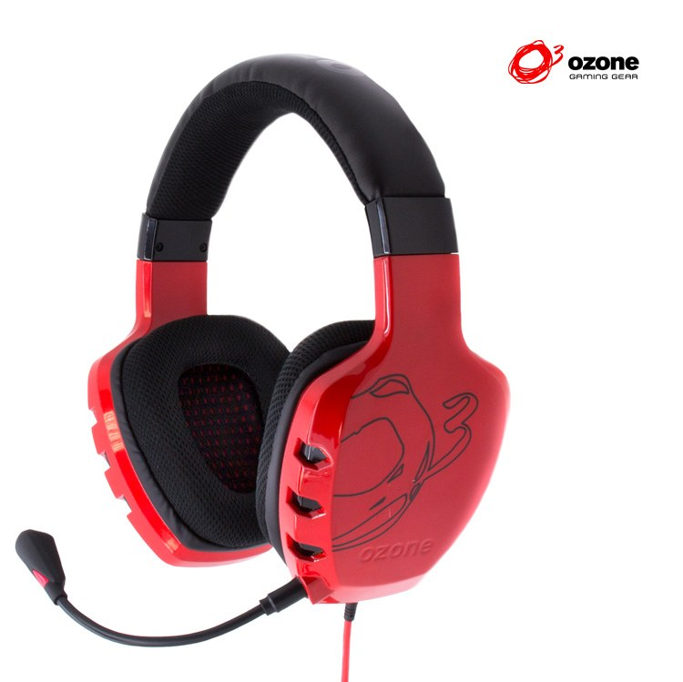 Auricular Gaming Ozone Rage St Estereo Rojo
