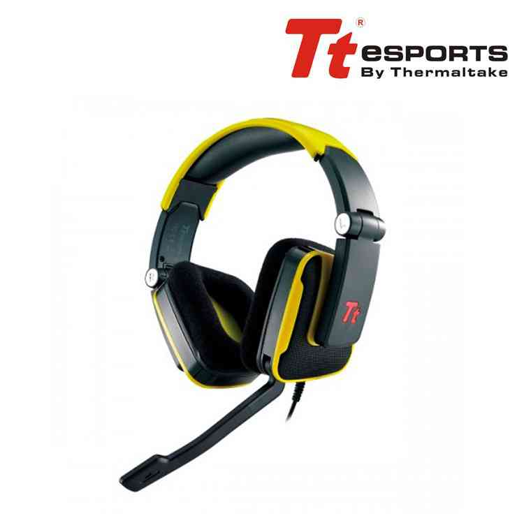 Auriculares Gaming Tt Esports Shock Sunfire Yellow
