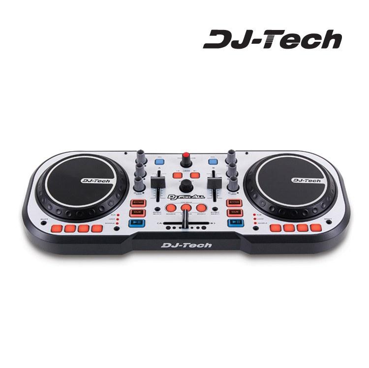 Mesas mesa mezclas dj tech dj for all usb auriculares for Mesa de mezclas dj