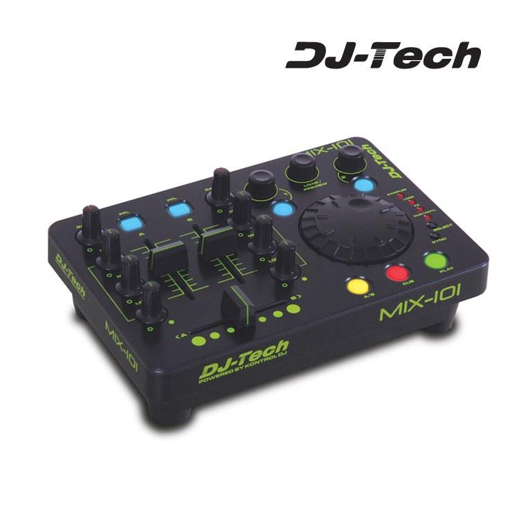 Mesas mini mesa de mezclas dj tech mix 101 usb - Mesas de mezclas para pc ...