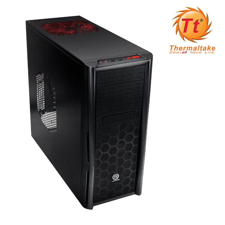Semitorre Atx Thermaltake Element T 20cm Led Rojo
