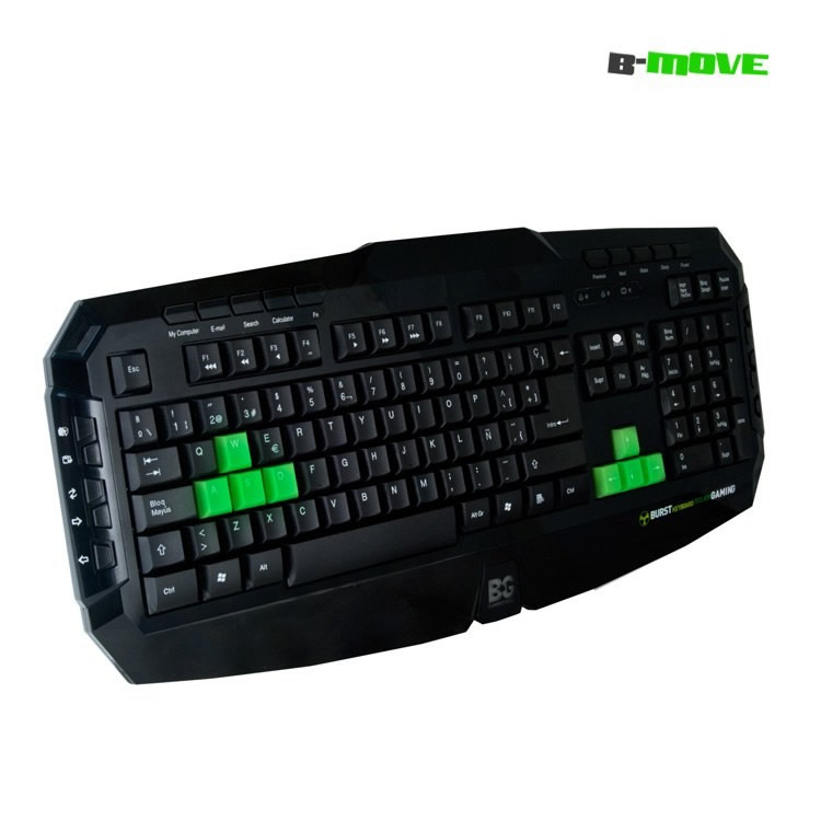 Teclado Gaming B-move Burst Teclas Reflectantes Uv