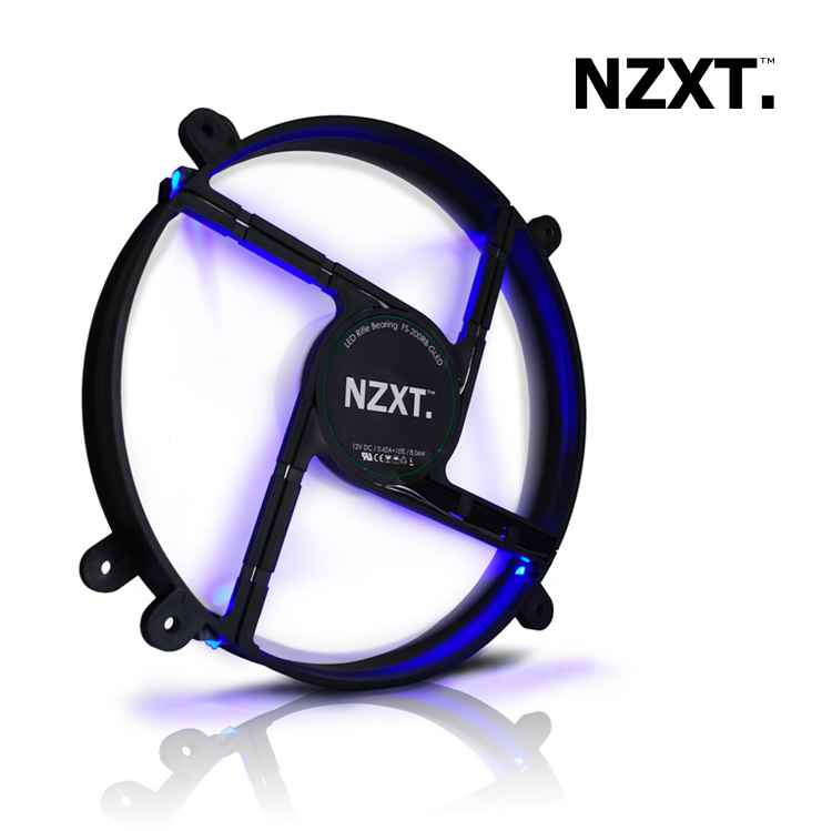 Ventilador Caja Nzxt Fs Series 200mm Led Azul