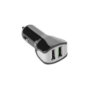 CELLY CARGADOR COCHE TURBO 2USB 3 4A NEGRO