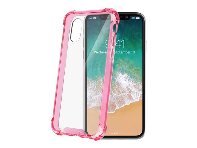 CELLY COVER ARMOR IPHONE X ROSA