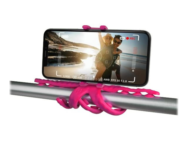 Celly Soporte Flexible Movil Camara Squiddy Rosa